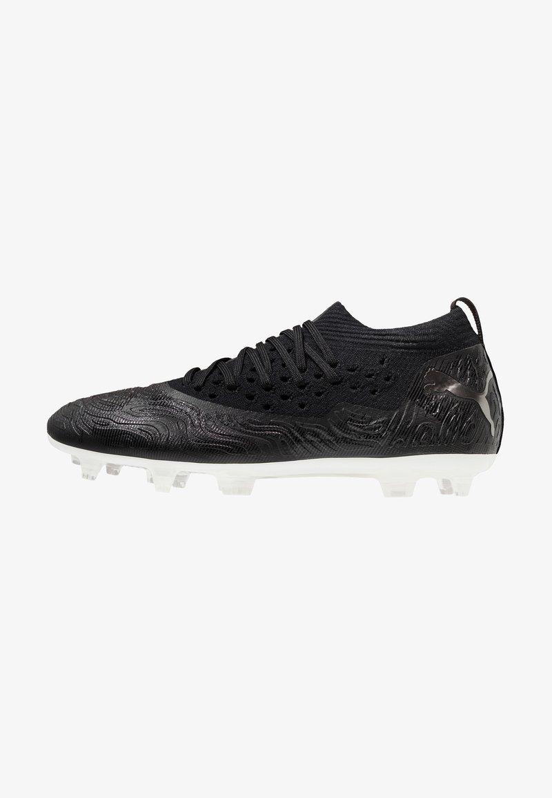 Puma - FUTURE 19.2 NETFIT FG/AG - Moulded stud football boots - black/white