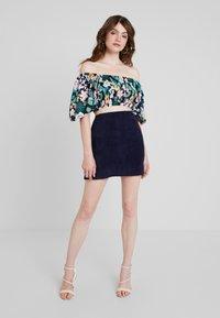 Missguided - MINI SKIRT - A-line skirt - navy - 1