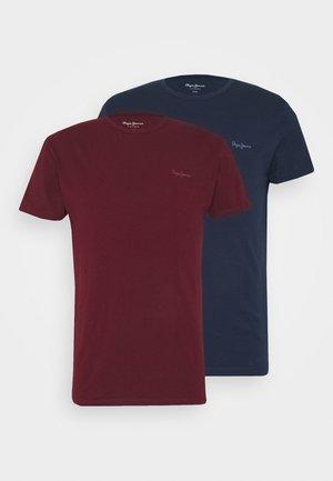 ORIGINAL 2 PACK - Camiseta básica - navy/bordeaux