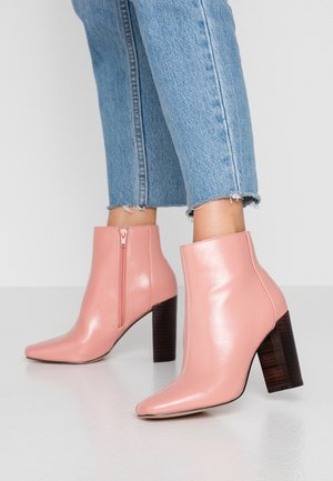 High heeled ankle boots - pink