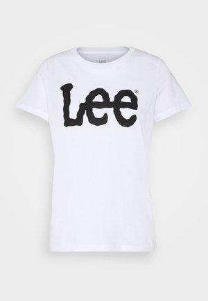LOGO TEE - T-shirts med print - white