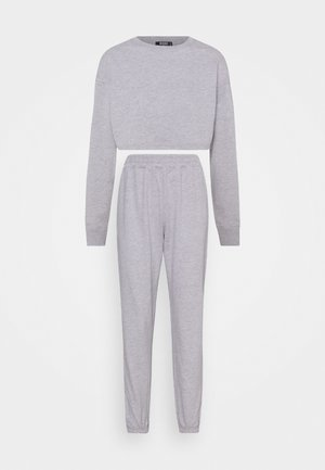 CROP JOGGER SET - Tracksuit - grey marl