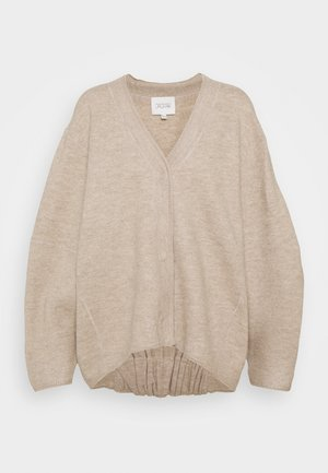BEA LONG - Cardigan - oat