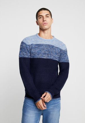 DREW - Jersey de punto - grey twist/ blue twist/ midnight