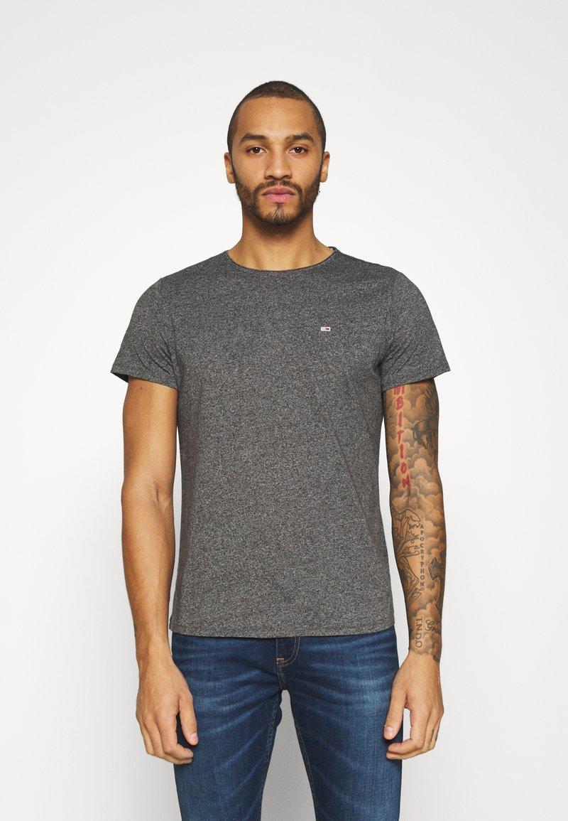 Tommy Jeans - SLIM JASPE C NECK - Basic T-shirt - black