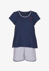 Lingerie le chat - SET - Pyjama - bleu blanc - 0