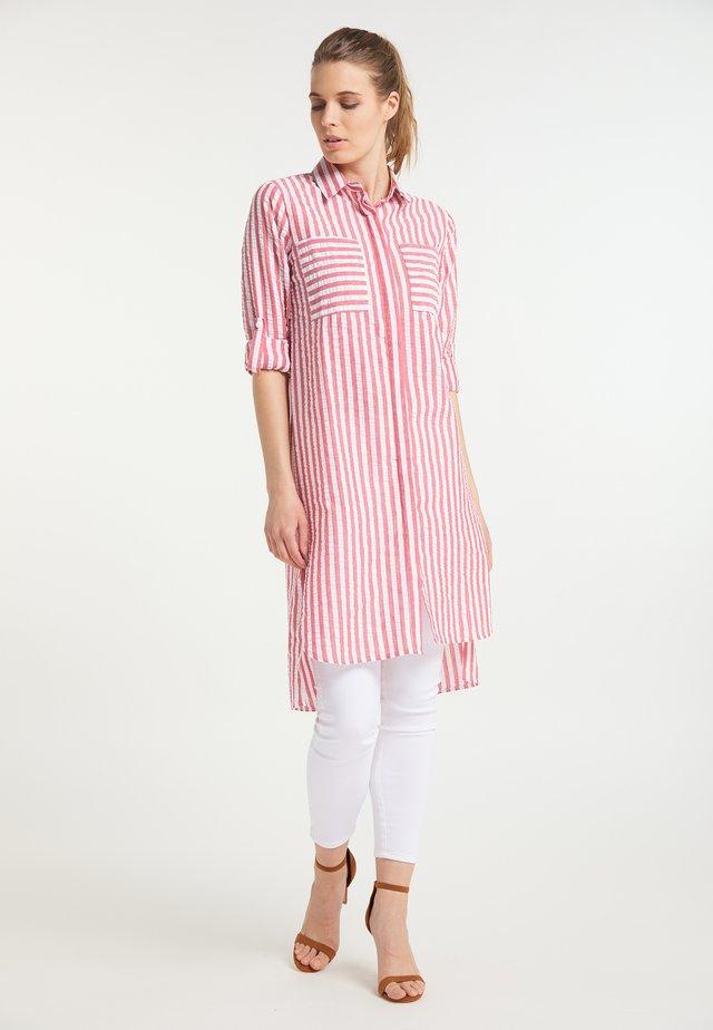 Sukienka koszulowa - weiss rot