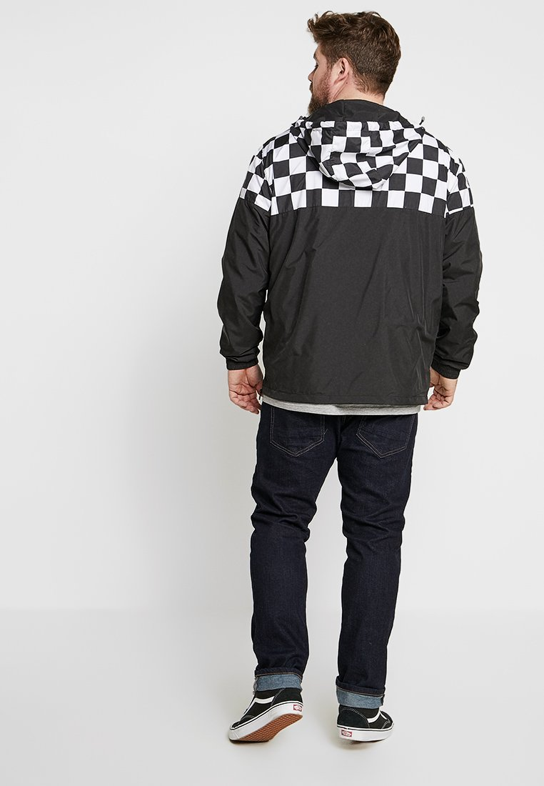 Outlet Wholesale Urban Classics CHECK PULL OVER JACKET - Windbreaker - black/chess | men's clothing 2020 ikA5S