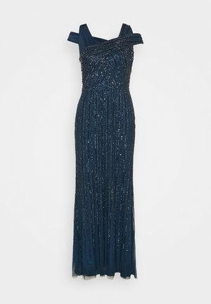 BEADED GOWN WITH MERMAID SKIRT - Occasion wear - deep blue