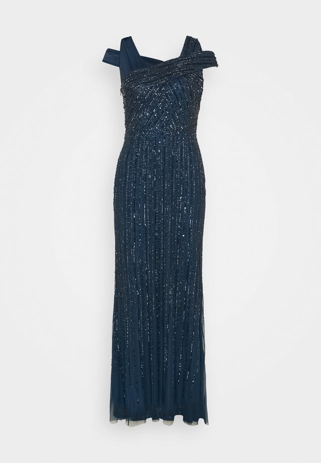 BEADED GOWN WITH MERMAID SKIRT - Iltapuku - deep blue