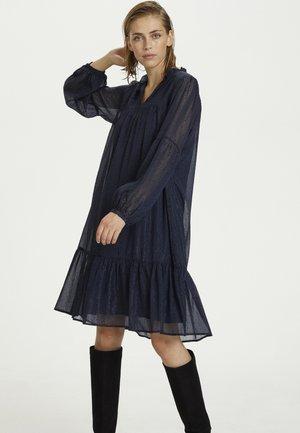 Day dress - navy dot print