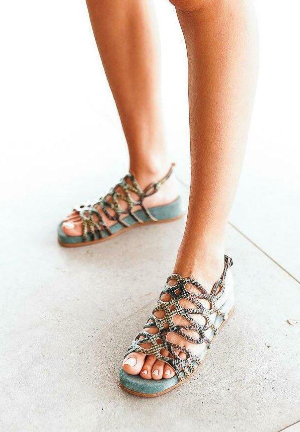 Alma en Pena - Sandals - green
