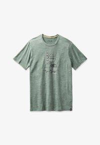 Smartwool - T-shirt print - sage heather - 2
