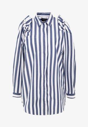 Overhemdblouse - navy/white
