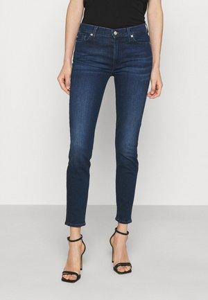 CROP  - Jeansy Skinny Fit - dark blue