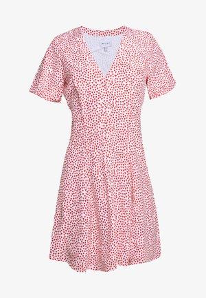 HEART ASPEN DRESS - Košilové šaty - red multi
