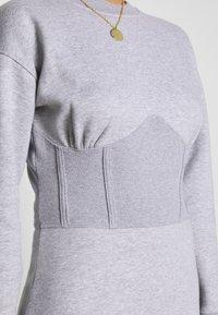 Missguided - OVERSIZED CORSET DRESS - Vestido informal - grey marl - 4