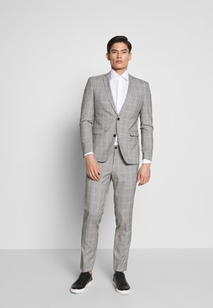 PRINCE CHECK - Traje - light grey