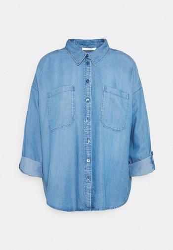BUTTON  DOWN  - Button-down blouse - blue denim