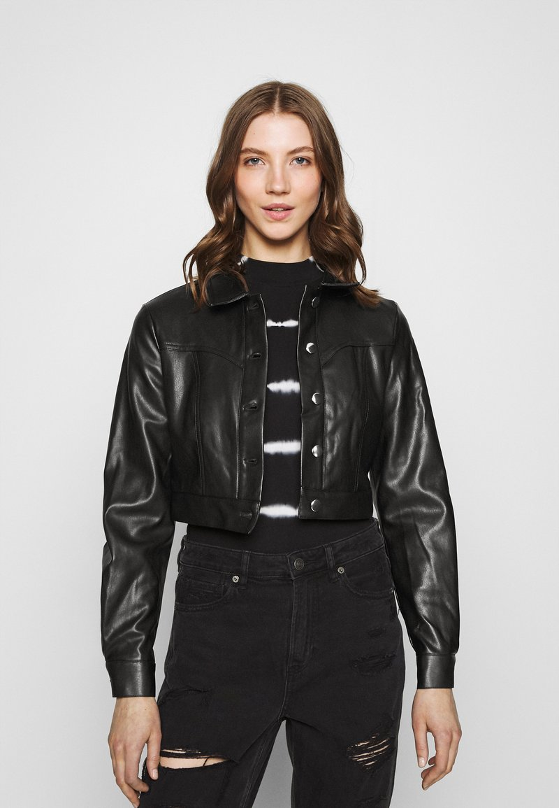 ONLY - ONLWESTA  - Faux leather jacket - black