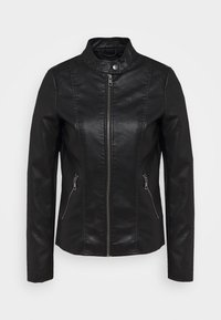 ONLY Tall - ONLMELISA JACKET  - Faux leather jacket - black - 0