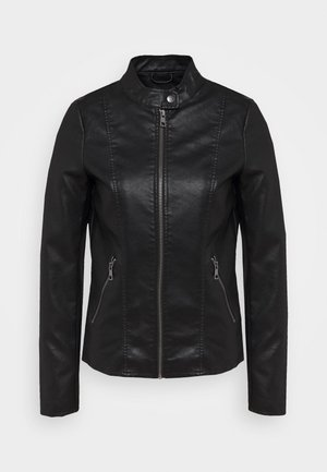 ONLMELISA JACKET  - Faux leather jacket - black