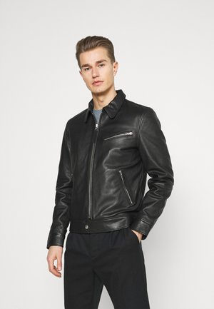 MONTANA - Leather jacket - black