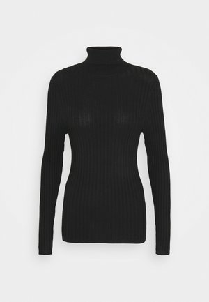 ROLL NECK JUMPER - Pullover - black