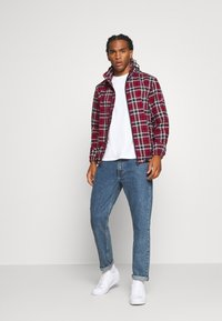 Tommy Jeans - PLAID TRACK JACKET - Tunn jacka - wine red/multi - 1
