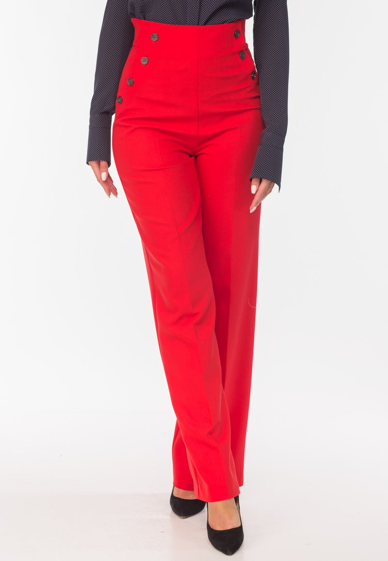 Diyas London - CHERRY - Trousers - red