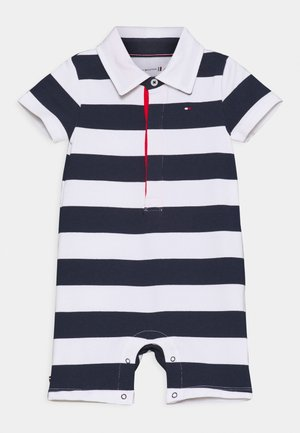 BABY RUGBY STRIPE SHORTALL UNISEX - Jumpsuit - twilight navy