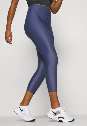 HIGH SHINE 7/8 WORKOUT LEGGINGS - Leggings - crown blue