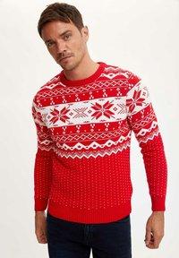 DeFacto - CHRISTMAS  - Stickad tröja - red - 0