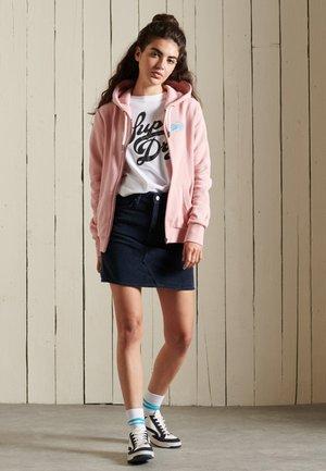 Zip-up sweatshirt - soft pink