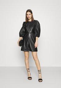 Closet - CLOSET PUFF SLEEVE MINI DRESS - Day dress - black - 1