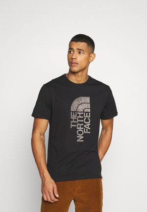 LOGO PUSH THROUGH TEE - Print T-shirt - black