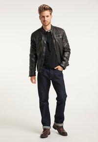 Petrol Industries - BIKERJACKE - Leather jacket - black - 1