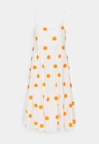Milly - DUSTINA POM POM DRESS - Day dress - white/tangerine - 0