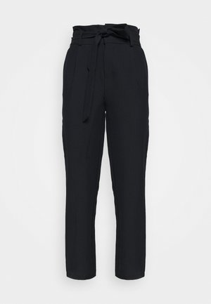 ONLLONZO PAPERBAG BELT PANT - Trousers - navy blazer