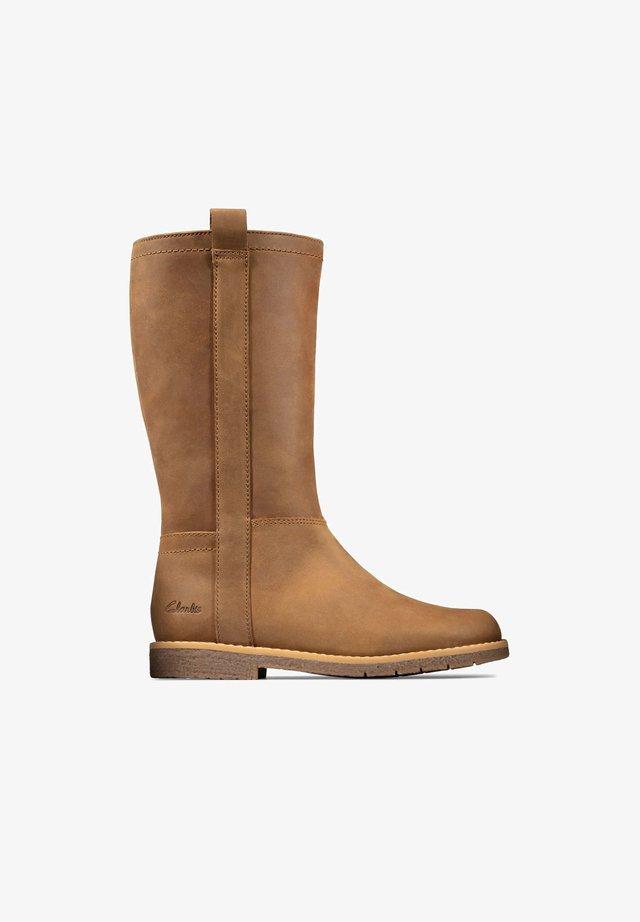 Korte laarzen - cuir brun