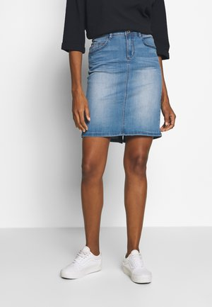 SKIRT - Denim skirt - mid stone wash denim