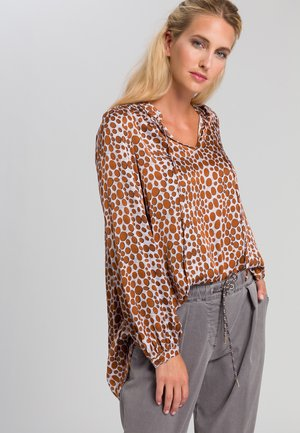 Tunic - cognac grey varied