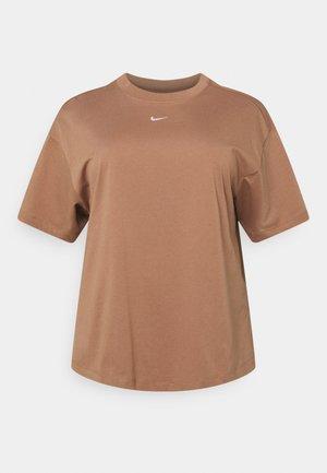 Camiseta básica - archaeo brown/white