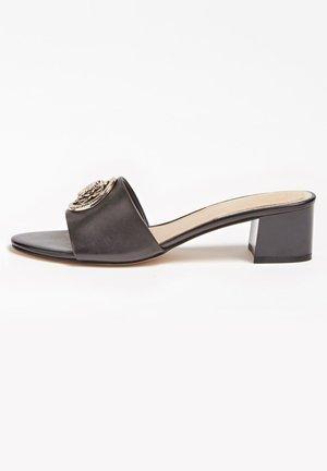 SANDALETTE DARICE ECHTES LEDER - Pantolette flach - schwarz