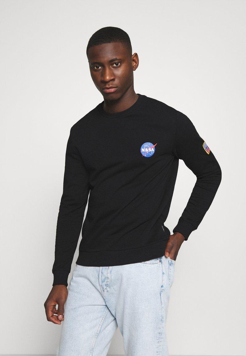 Only & Sons - ONSNASA CREW NECK - Sweatshirt - black