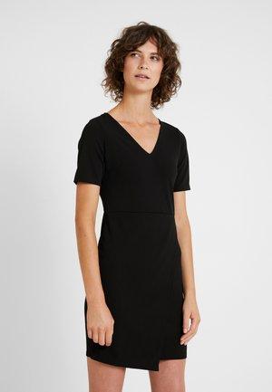 WRAP SKIRT BODYCON - Pouzdrové šaty - black