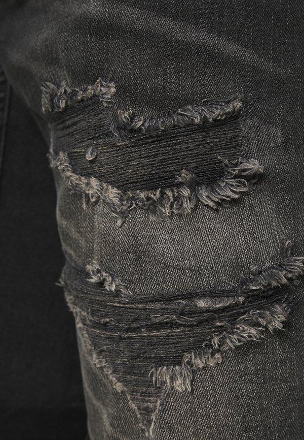 Gabba HOP - Szorty jeansowe - black destroyed/czarny denim Odzież Męska LBFP