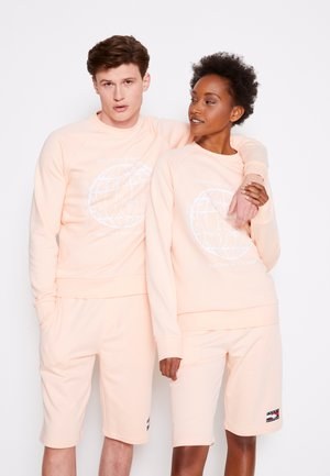 ONE PLANET CREWNECK UNISEX - Sweatshirt - delicate peach