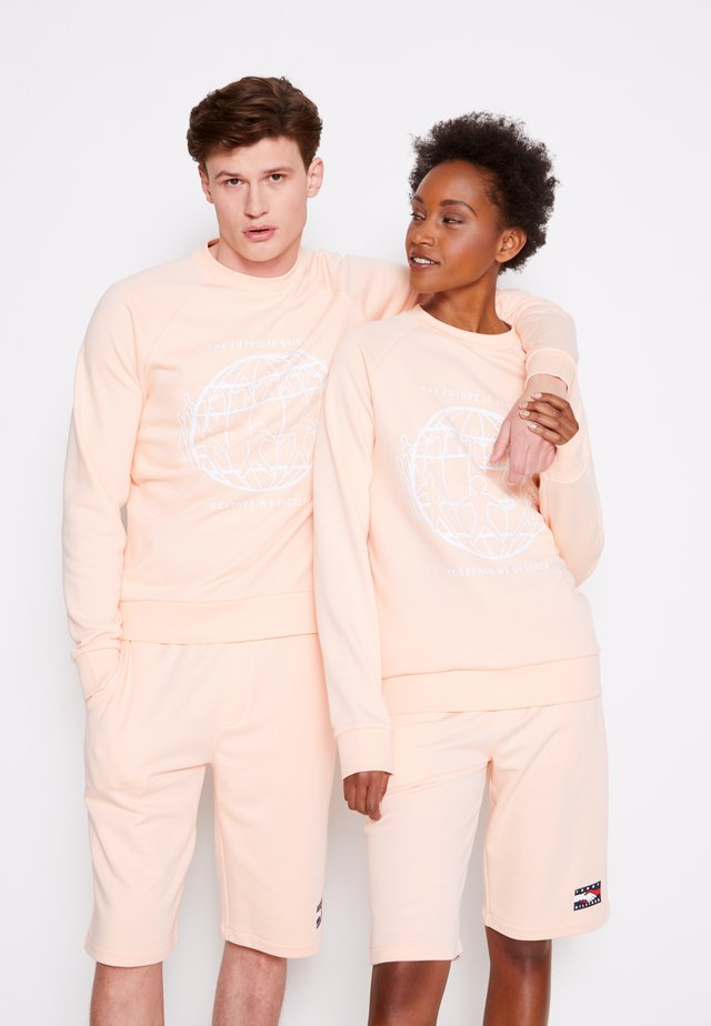ONE PLANET CREWNECK UNISEX - Sweatshirt - delicate peach