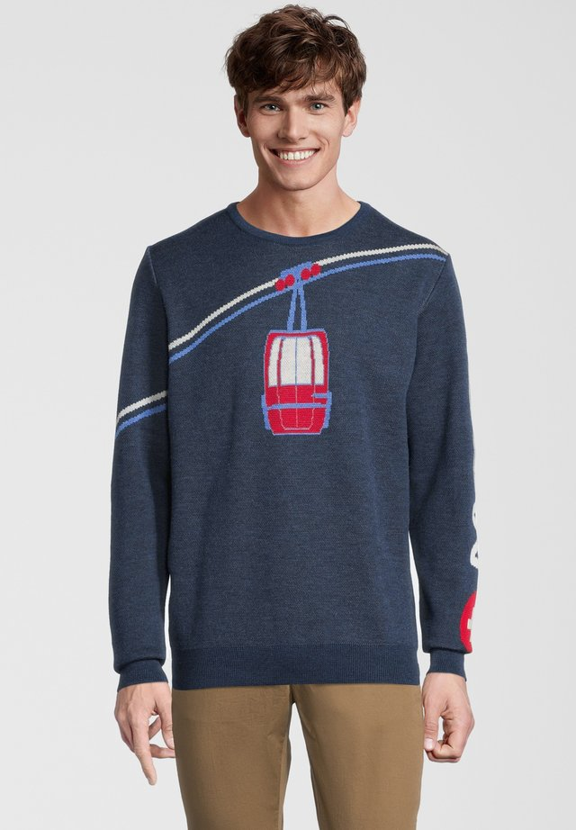 Pullover - blau/rot